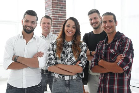 Photo for Portrait of a successful team of young people - Royalty Free Image
