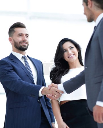 Photo for Handshake business people at meeting in office - Royalty Free Image