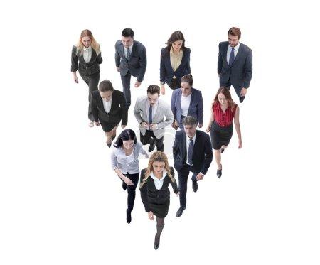 Photo pour Grand groupe de gens d'affaires. Sur fond blanc - image libre de droit