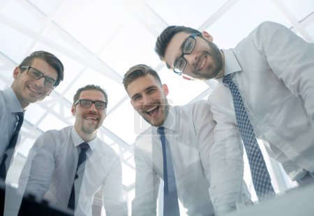 Photo for Close up.smiling business team looking at the camera. the concept of teamwork - Royalty Free Image