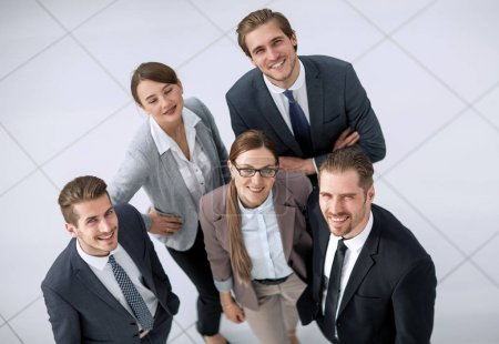 Photo for Top view.a group of successful business people looking at the camera - Royalty Free Image