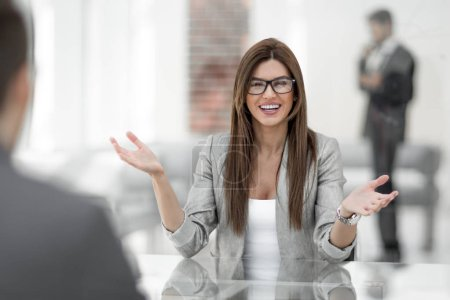 business woman explaining to the client the terms of the contrac