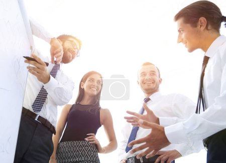 Photo for Professional business team discussing a new presentation. photo with copy space - Royalty Free Image