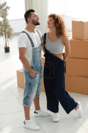 Photo for Loving happy couple. Purchase of new housing. - Royalty Free Image