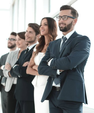 Photo for Business team standing in the office.the concept of teamwork - Royalty Free Image