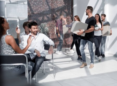 creative business team moves to a new office