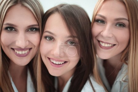 Photo for Closeup portrait of three nurses.people and profession - Royalty Free Image
