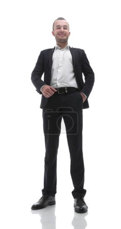 Photo for In full growth.bottom view. confident businessman. - Royalty Free Image