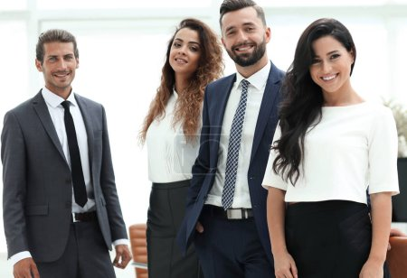 Photo for Portrait of successful business team in office - Royalty Free Image