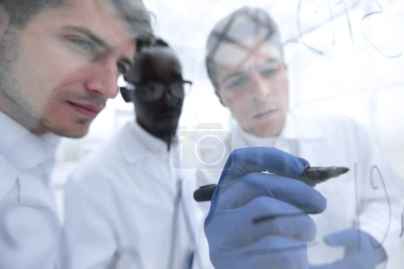 Photo for Close up.a group of scientists discussing new ideas. education and science - Royalty Free Image