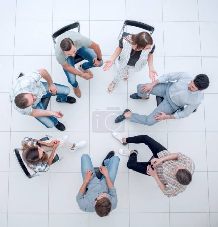 Photo for Top view. a team of successful young employees.business concept - Royalty Free Image