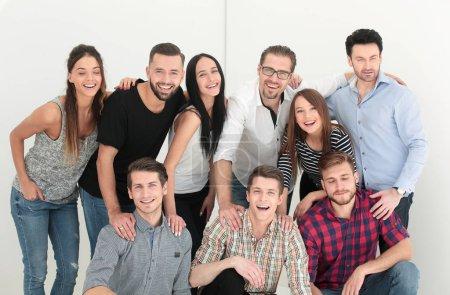 Photo pour Portrait d'entreprise créative team.isolated sur fond clair - image libre de droit