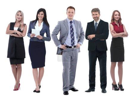 Chef und sein Business-Team stehen zusammen