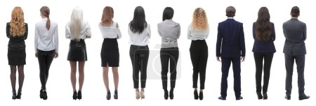 Photo for Rear view. business team looking forward. isolated on white background - Royalty Free Image