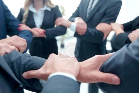 Photo for Closeup. unified business team .the concept of teamwork - Royalty Free Image