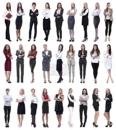 Photo pour Collage de succès femme d'affaires moderne. isolé sur fond blanc - image libre de droit