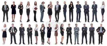 Photo for Successful business people isolated on white background . photo collage - Royalty Free Image