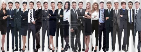 Photo for Panoramic collage of groups of successful employees. the concept of teamwork - Royalty Free Image