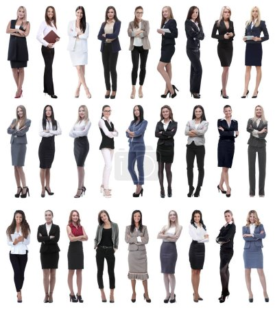 Photo for Collage of successful modern businesswoman. isolated on white background - Royalty Free Image
