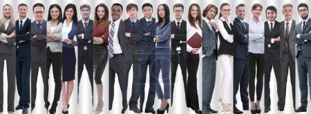 Foto de Panorámica collage de grupos de empleados exitosos. el concepto de trabajo en equipo - Imagen libre de derechos