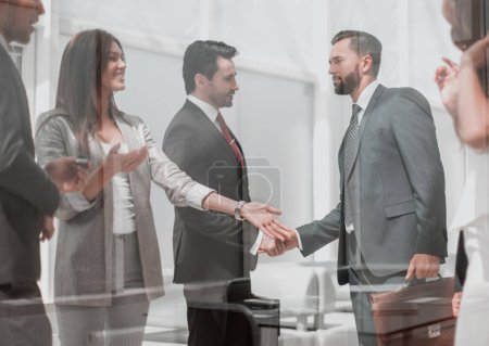 Photo for Handshake business partners in a modern office.business concept - Royalty Free Image
