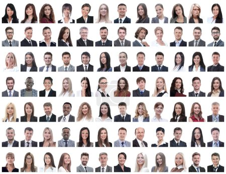 Photo for Portraits of successful employees isolated on a white background . photo collage - Royalty Free Image