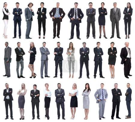 Photo for Set of business people isolated on white - Royalty Free Image