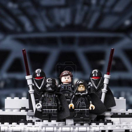 Photo for RUSSIA, April 12, 2018. Constructor Lego Star Wars. Episode IV, Squad of stormtroopers - Royalty Free Image