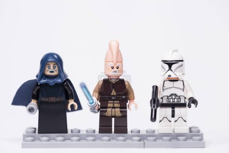 Photo for RUSSIA, May 16, 2018. Constructor Lego Star Wars. Various mini-figures from different episodes of the saga - Royalty Free Image