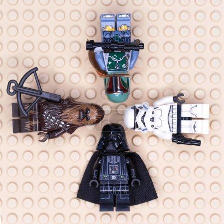 Photo for RUSSIAN, SAMARA - JANUARY 24, 2019. LEGO STAR WARS. Minifigures Star Wars Various Characters - Royalty Free Image