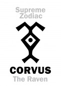 Astrology Alphabet: CORVUS (The Raven) constellation Phoenix / Corvus (