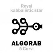 Astrology: ALGORAB (The Royal Behenian kabbalistic star)