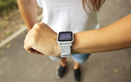 Photo for Smart watch on the woman's hand - Royalty Free Image