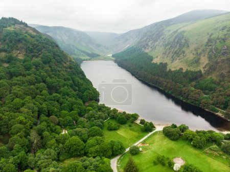 lake in Wicklow Mountains National Park Glendalough valley, County Wicklow, Ireland