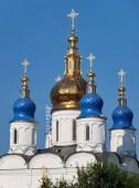 The five-domes of  St Sophia-Assumption Cathedral. Tobolsk Kreml