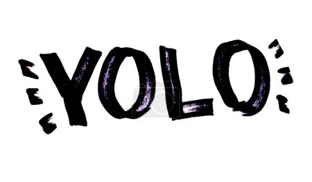 Photo pour YOLO - You Live Only Once - lettrage gribouillé dessiné à la main - image libre de droit