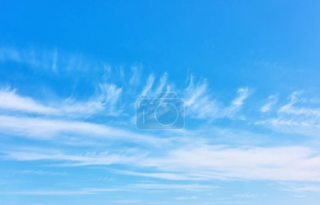 Photo for Blue sky with light white clouds,  may be used as background - Royalty Free Image