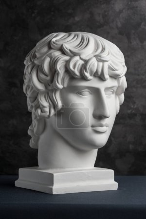 White gypsum copy of ancient statue of Antinous he...