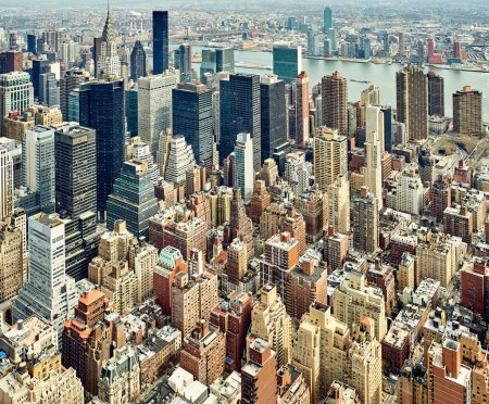 Cityscape view of Manhattan New