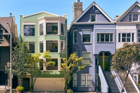 Photo for Victorian style homes in San Francisco, California, USA - Royalty Free Image