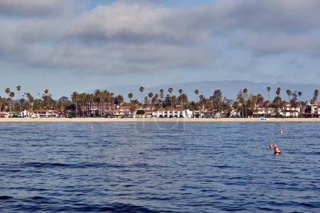 Santa Barbara coast in California, USA