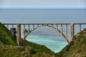 View of Bixby Creek Bridge on Highway, California, USA.