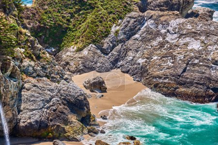 Photo for Scenic view of pacific coast landscape in California, USA - Royalty Free Image