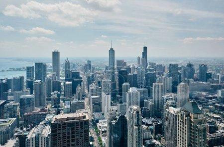 Photo pour Chicago skyline vue aérienne, Illinois, États-Unis - image libre de droit