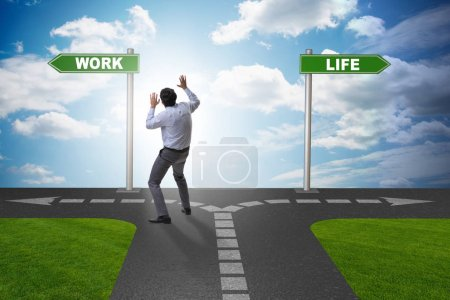 Photo for Work life or home balance business concept - Royalty Free Image