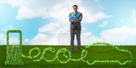 Photo pour Voiture écologique alimentée par une énergie alternative - image libre de droit