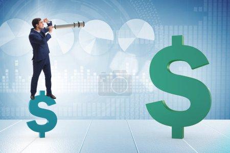 Photo pour Homme d'affaires dans le concept d'entreprise de trading forex - image libre de droit