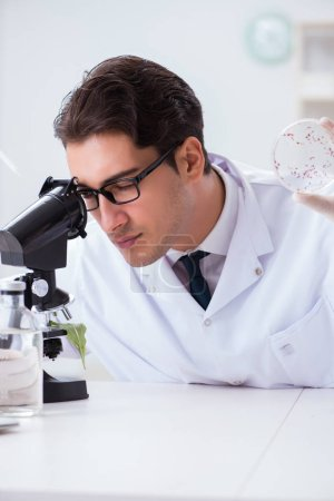 Photo pour Scientifique en biotechnologie chimiste travaillant en laboratoire - image libre de droit