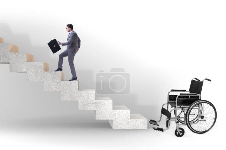 Photo for Accessibility concepth with wheelchair for disabled - Royalty Free Image