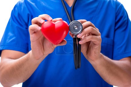 Photo for Young doctor in heart care concept - Royalty Free Image